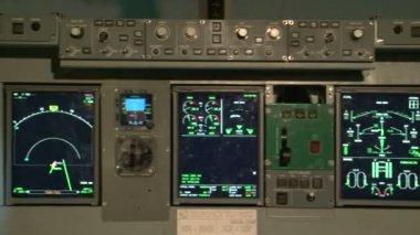 авиационный симулятор — Стоковое видео