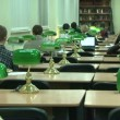 Stock Video: Students in library