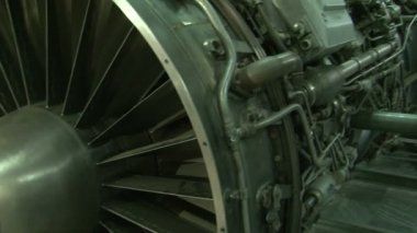 Turbine engine aircraft — Stock Video