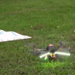 Stockvideo: Toy helicopter on remote control
