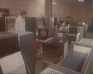 The old computer center — Stock Video