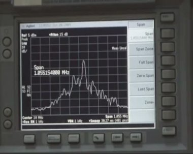 Oscilloscope, spectrogram. — Stock Video
