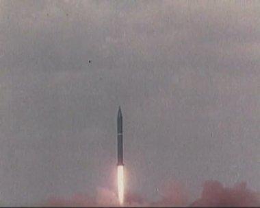 Start intercontinental ballistic missile — Stock Video