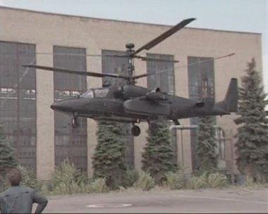 Helicopter gunship — Stock Video