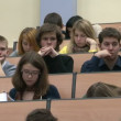 Students at a lecture in the classroom — Stock Video