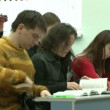 Stock Video: Students at lecture in classroom