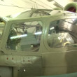Helicopter in the hangar — Stock Video