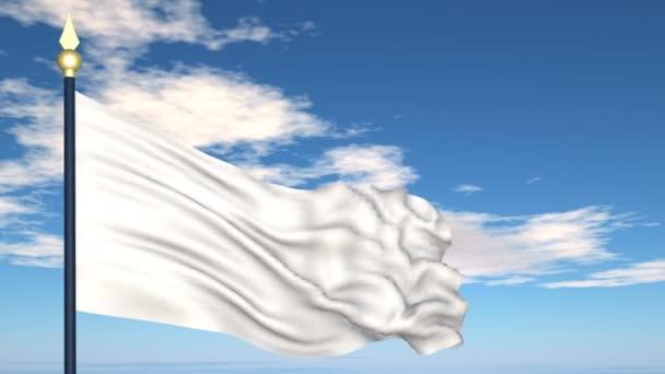 Drapeau blanc et la remise — Vidéo