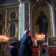 The interior of an orthodox church — Stock Video