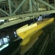 Stok video: Testing the model of a ship in the pool