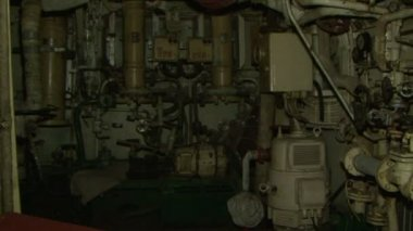 The engine room of the ship — Stock Video