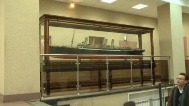Model of a sea liner — Vídeo Stock