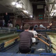 Simulator canoe rowing — Stock Video