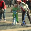 Child on a bicycle — Stock Video