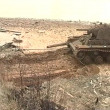 Sunken tank KV-1 was pulled from the river - ストック写真