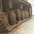 Sunken tank KV-1 was pulled from the river - Foto de Stock