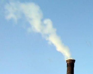 Kouř z komína — Stock video