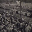 Stock Video: Newsreel, chronicle of USSR. Demonstration and parade
