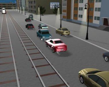 Violação de efectivação do. ultrapassagem da pista que se aproxima — Vídeo Stock