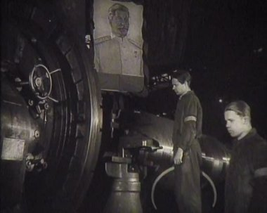 The funeral of Stalin in the USSR. Newsreel — Stock Video