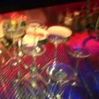 Stock Video: Bar glasses