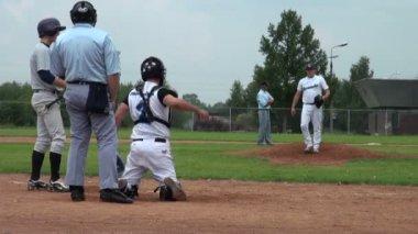 Game of baseball — Stock Video