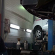 Stock Video: At repair service station