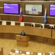 Work hours in the House of government of Russia, Moscow — Stock Video
