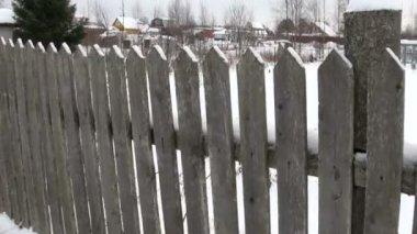 Casa en el invierno — Vídeo de Stock