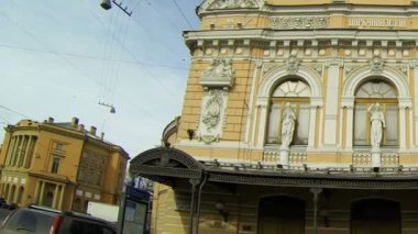 Circus on Fontanka river in Saint-Petersburg — Stock Video