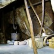 Stock Video: Chukchi living in hut