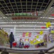 Shopping at supermarket — Stock Video