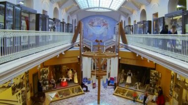 The hall of the Ethnography Museum in St. Petersburg — Stock Video