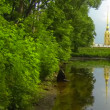 Stock Video: Peter and Paul fortress. reflection in water
