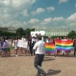 The gay parade and rally sexual minorities — Stock Video