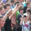 Stock Video: Opponents of gay men and lesbians at rally