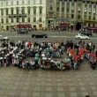 Flashmob in St. Petersburg — Stock Video