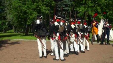 российские солдаты во время войны с наполеоном — Стоковое видео