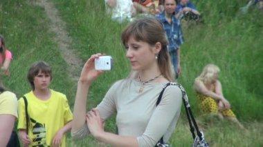 Garota do fotógrafo — Vídeo stock
