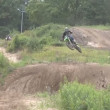 Motocross jump rider — Stock Video