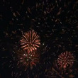 Stock Video: Fireworks in the night sky