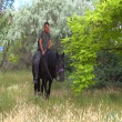 Man riding horse — Stock Video #31701109