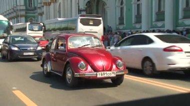 Kierowcy i pojazdu chrząszcz — Wideo stockowe