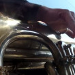 Stock Video: Trumpet in brass band