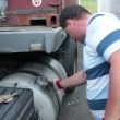 Stock Video: Lorry Driver