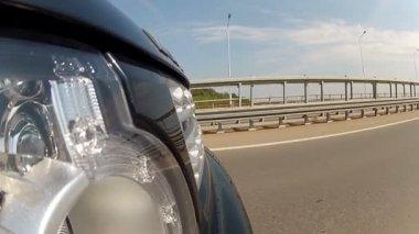 Reizen op de snelweg — Stockvideo