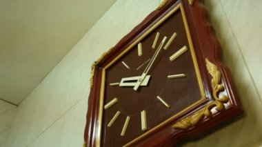 Old Wall clock — Stock Video