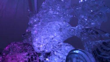 Ice Sculpture — Stock Video