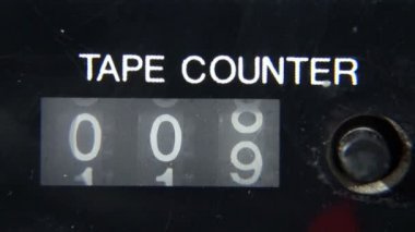 Mechanical Counter Tape — Vídeo Stock
