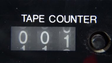 Mechanical Counter Tape — Stok video